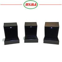 New arrival pu jewelry box, wholesale led light jewelry box, LED ring box with led light