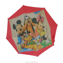 Kids rain cartoon picture custom design umbrella