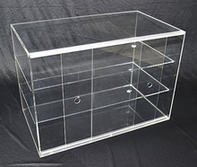 Clear Large Acrylic Cupcake Bakery Display Case Muffin Pastry Cabinet