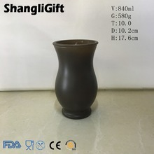 hot sale sprayed chocolate-colored glass bottle vases