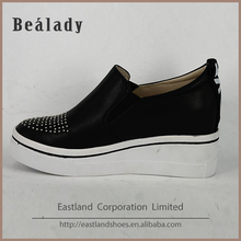Factory customized metal stud slip on brand air sports casual shoe for ladies