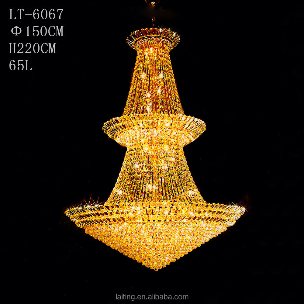 christmas decoration large hotel led crystal hanging light lt6067