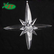 Glass christmas tree ornaments custom star decoration for outdoor