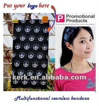 factory sealed multifuctional custom logo tubular bandanas