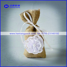 Good quality best selling china wedding gift packing jute pouchs