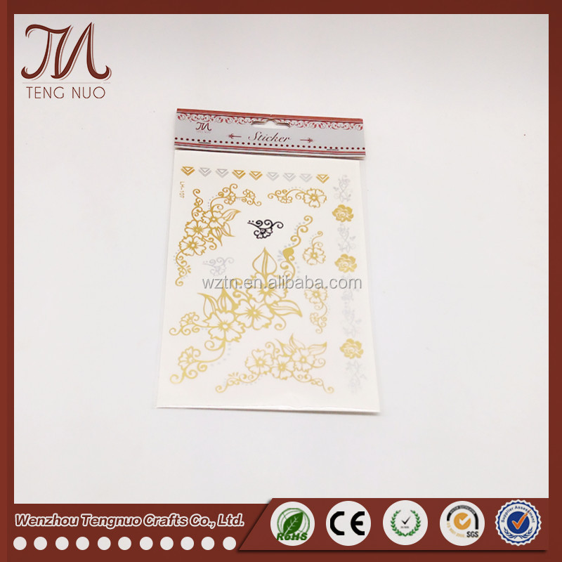 Non toxic 3d temporary tattoo for women