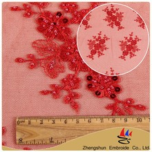 New design cheap 100% polyester silk lace fabric for beautiful dress