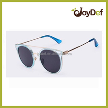 fashion metal outdoor female blue popular retro sunglasses with polarized mirror lens