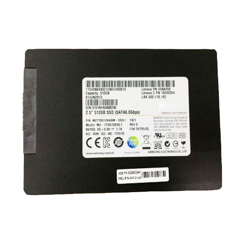 Cheap Second Hand laptop Drive 04Y2149 ASM7 SSD 512GB 2.5PM841 512 6Gbs