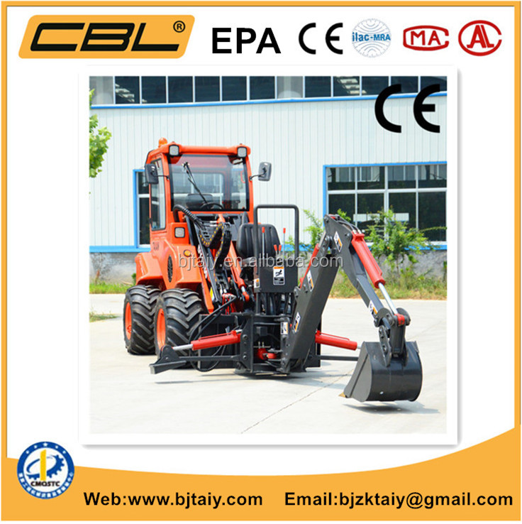 DY1150 epa mini garden tractors 4x4 epa small backhoe loader price