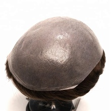 Ultra Thin Skin 0.02-0.03mm V-looped 100% Real Human Hair Men Toupee Cheap Stock Piece for Men