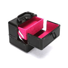 Nail Polish Lipstick Makeup Storage PU leather Aluminum Cosmetic Cases