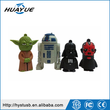 New arrival star war usb sticks Yoda warrior R2D2 usb flash drive 2.0 8gb 16gb 32gb usb thumb drive for gifts