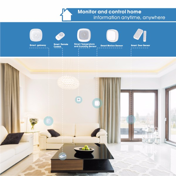 Home Automation Device with Wi-fi IP Camera Security Alarms Zigbee Gateway