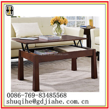 Hot Sell Rotating Wood Coffee Table/lift Top Table