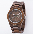 2018 trending products mens chronograph wood watches Handcrafted wooden wristwatch