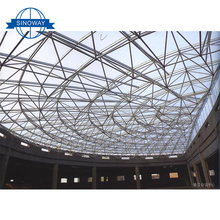 Factory direct supply Light weight steel space frame trusses structure , steel structure football stadium