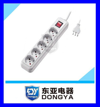 new design 5 outlet socket Italy power strip
