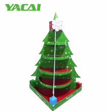 Custom cardboard christmas tree display, paper floor display for gifts