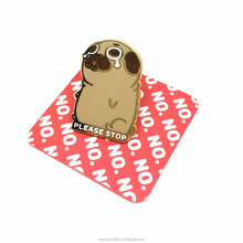 No MOQ Fancy glittering Lapel brooch pins cute pet dogs souvenirs with paper card