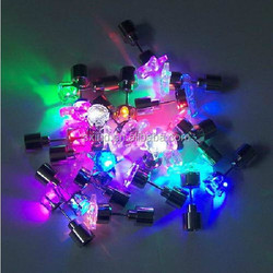 Round shaped colourful LED earrings for dance party