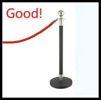 Black-Silver Rope Barriers_Queue Stand Barriers-Outdoor Barrier-vip crowdcontrol stanchions