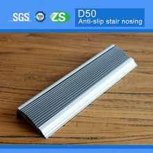 2014 new design pvc aluminum spiral aluminium stairway edge nosing for walking