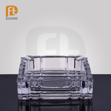 transparent portable crystal glass made cigarette ashtray