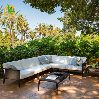 Factory promotion price Simple Modern High quality outdoor poly pe rattan garden furniture