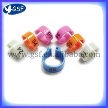 Racing pigeon plastic rings with 10 colors pellet machine for poultry farm