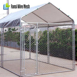2015 new products wholesale iron cheap 10x10x6 foot classic galvanized outdoor dog kennel