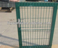 latest good quality modern Euro designs sample welded electrical galvanized outdoor simple steel gate for garden(factory)
