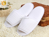 Cheap Wholesale Disposable Hotel slippers/open toe closed toe EVA slippers for SPA/Waffle hotel bathroom slippers