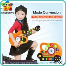 Top selling product toy guitar yellow toys plastic musical instruments electronic organ