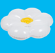 2018 newest design inflatable fried eggs flower pool float toy