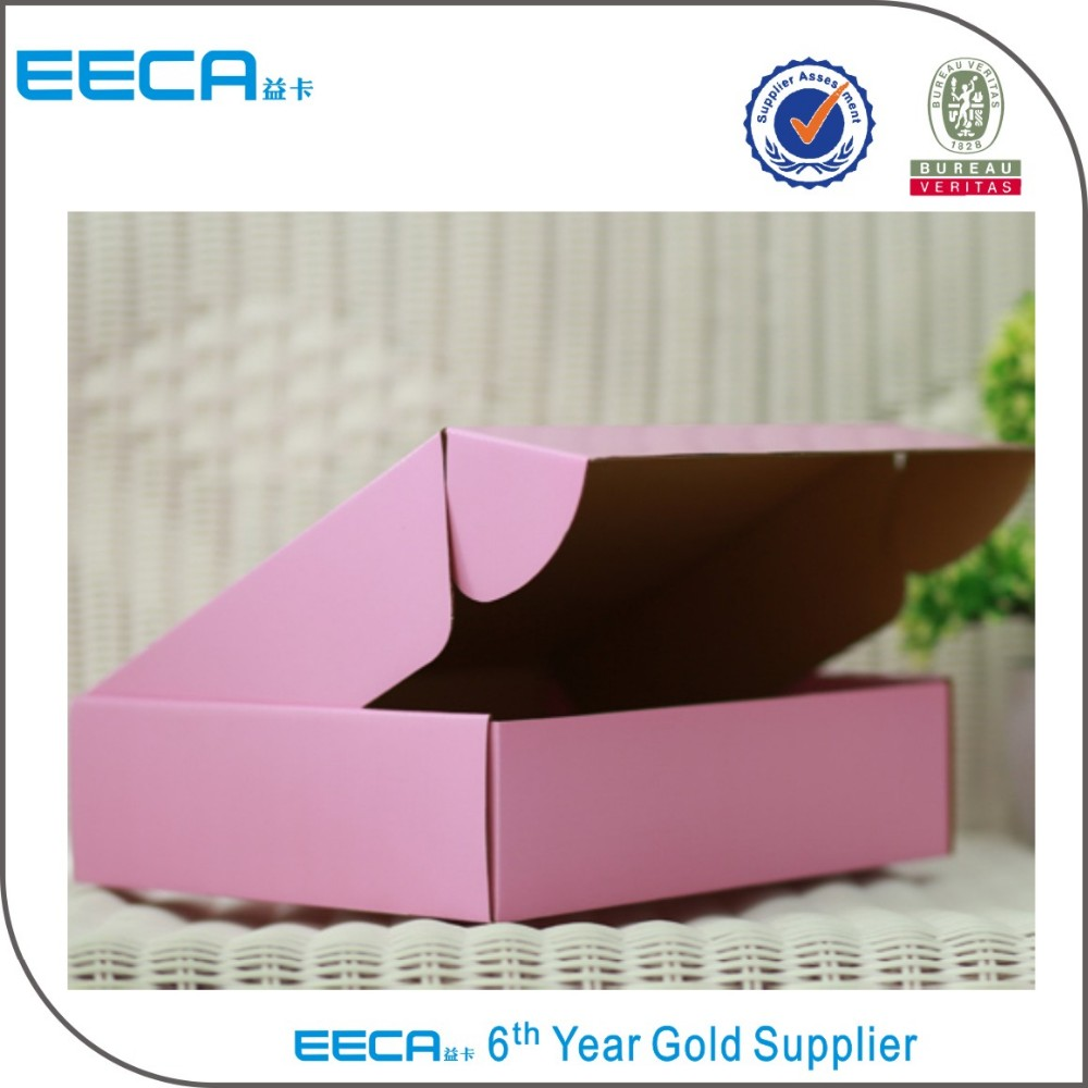 Fancy custom colorful folding corrugated paper gift shipping box
