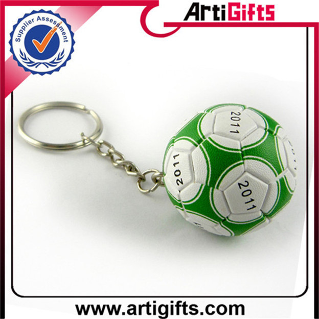 Customized design football shape keychain promotional gift