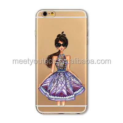 high quality plastic housing for ipadmini Fashion Girl Designs Phone Case