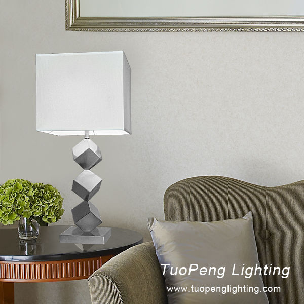 Hotel Metal Square table lamp / table light with guestroom table