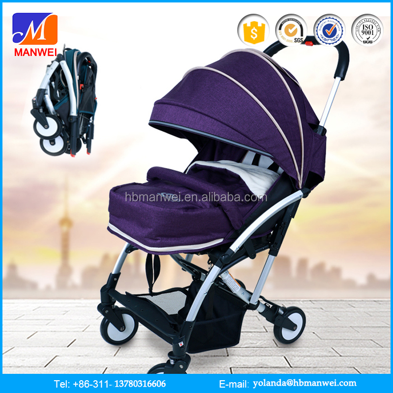 2016 Leather Material Foldable baby carrier/ baby pram stroller 3 in 1 manufacture