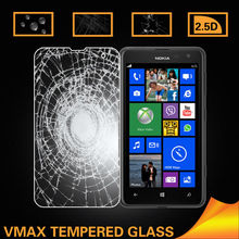 0.10mm ultra thin round edge for nokia lumia 625 tempered glass screen protector
