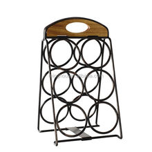 Minghou Antique Metal 6 Bottle Home Decor Wine Racks Beer holders for Sale