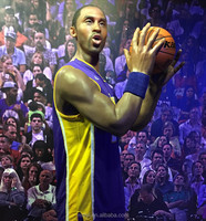 High Quality Human Sculpture Kobe Bryant Celebrity Wax Figures for Sale