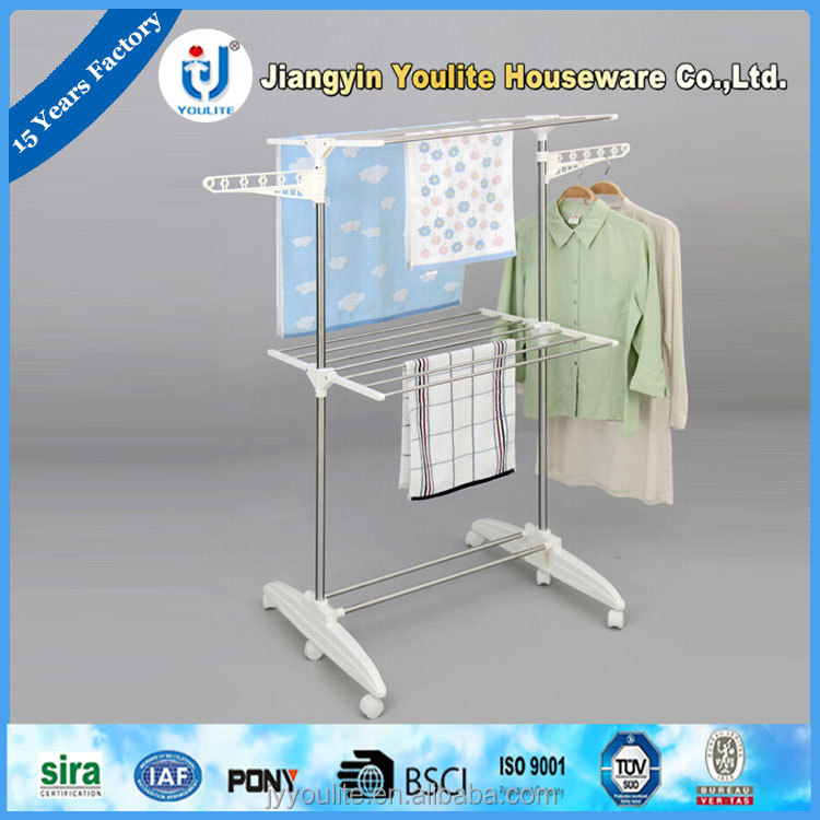 multi-layer pvc wall mounted clothes drying rack