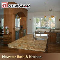 prefect tropical yellow granite countertops