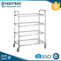 Heavybao Stainless Steel Knocked-down Trolley Axle Antique Metal Four Wheel Cart