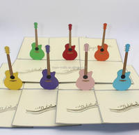 wholesale music guitar 3D greeting card