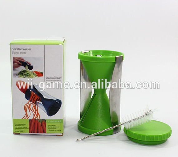 UK USA Amazon best selling spiral fruit vegetable twister cutter slicer with private lable and customized packaging