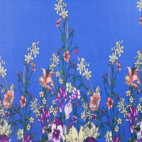 custom natural floral printed pure silk georgette fabric