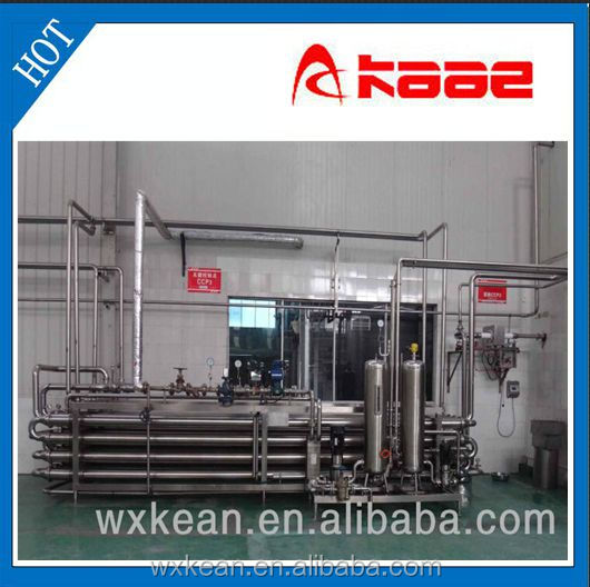Aseptic tubular UHT sterilizer manufactured in Wuxi Kaae